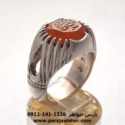 انگشتر عقیق یمن خطی f426