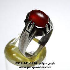 انگشتر عقیق تراش ثبتی یمنی a378