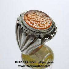 انگشتر عقیق یمن خطی 7091