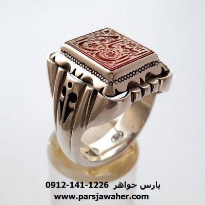 انگشتر مردانه عقیق یمنی f430