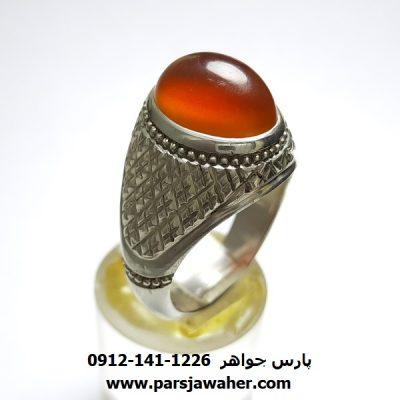 انگشتر عقیق کلاهدار یمن a382