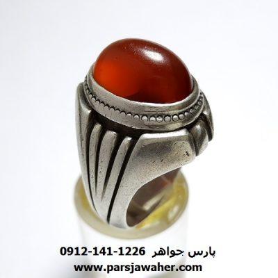 انگشتر کهنه عقیق یمن a384