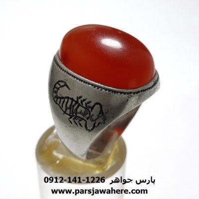 انگشتر قدیمی عقیق یمن a385