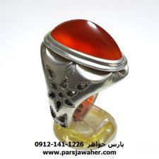 انگشتر عقیق مردانه دست ساز f431