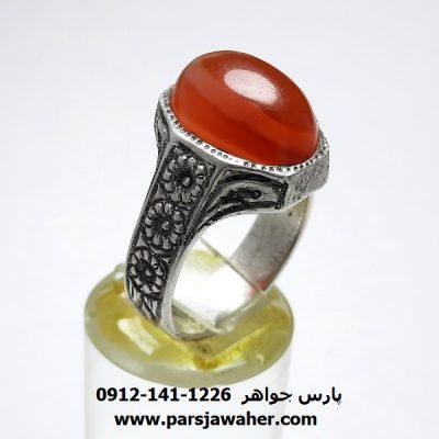 انگشتر قلم زنی عقیق یمن a400