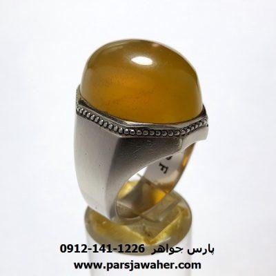 انگشتر فدیوم عقیق زرد مردانه a403