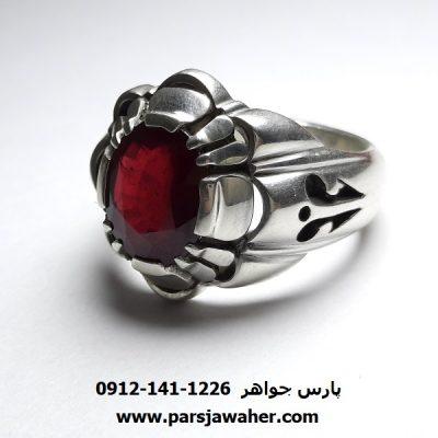 انگشتر مردانه یاقوت سرخ 355