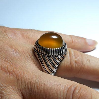 انگشتر مردانه عقیق زرد f440.2