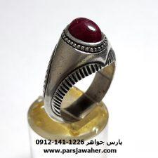 انگشتر قدیمی یاقوت سرخ f441
