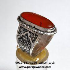 انگشتر مهره عقیق یمنی a407