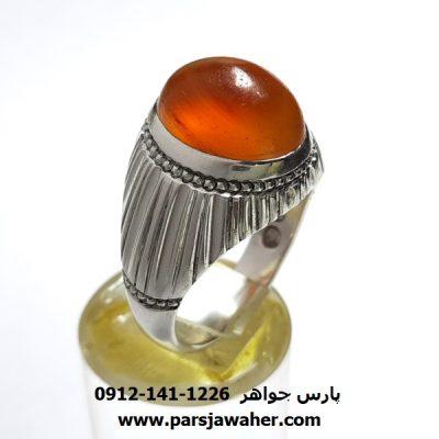 انگشتر عقیق طوق دار یمنی a409