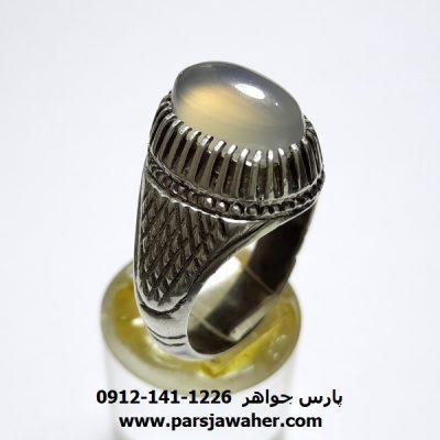 انگشتر عقیق نباتی یمنی a410
