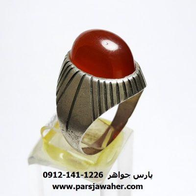 انگشتر دست ساز قدیمی عقیق a411