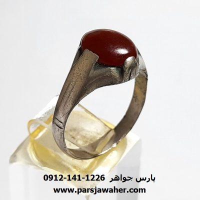 انگشتر قدیمی عقیق شجر a412