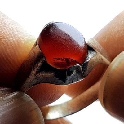 انگشتر قدیمی عقیق شجر a412.2