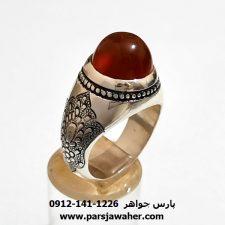 انگشتر قلمزنی عقیق یمن a418