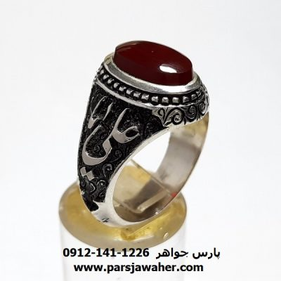 انگشتر عقیق کبدی یمنی a419