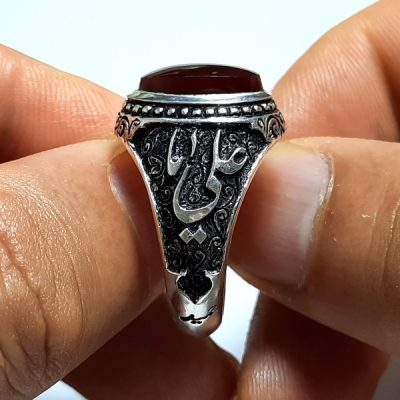 انگشتر عقیق کبدی یمنی a419.2