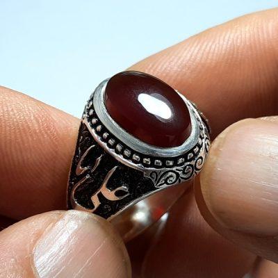 انگشتر عقیق کبدی یمنی a419.4