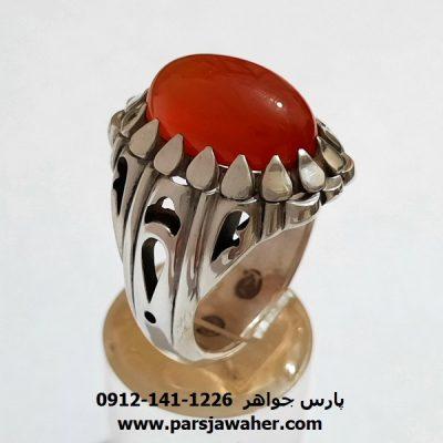 انگشتر عقیق یمن دستساز a420