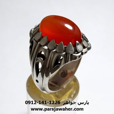 انگشتر عقیق یمن دستساز a420.1