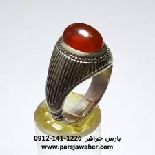 انگشتر عقیق تراش قطعی یمن f451