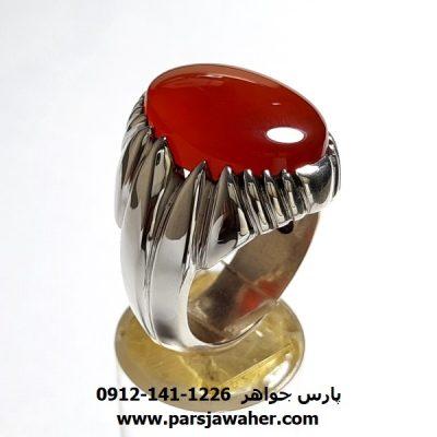انگشتر عقیق یمنی سرخ a422