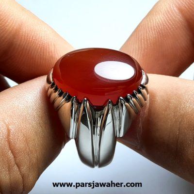 انگشتر عقیق یمنی سرخ a422.1