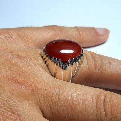 انگشتر عقیق یمنی سرخ a422.4