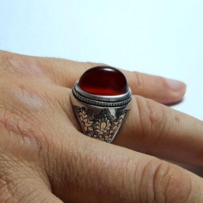 انگشتر عقیق لامپی یمنی a426.3