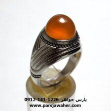 انگشتر عقیق یمن طوقدار a427