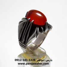 انگشتر مردانه عقیق یمنی a429