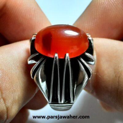 انگشتر مردانه عقیق یمنی a429.1