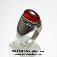 انگشتر عقیق کلاهدار یمنی a430
