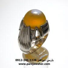 انگشتر عقیق زرد باباقوری a432
