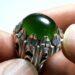 عکس ریز انگشتر یشم سبز مردانه a431.3