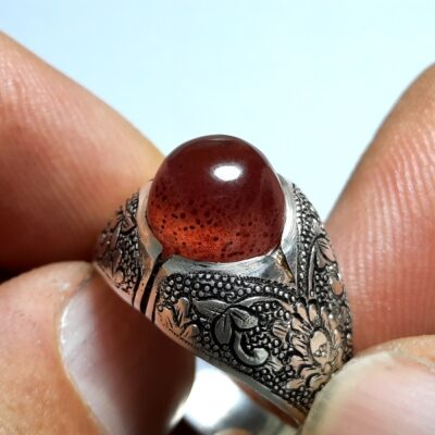 انگشتر مردانه عقیق زیبا a433.2