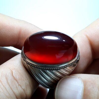انگشتر فدیوم مردانه عقیق a435.1