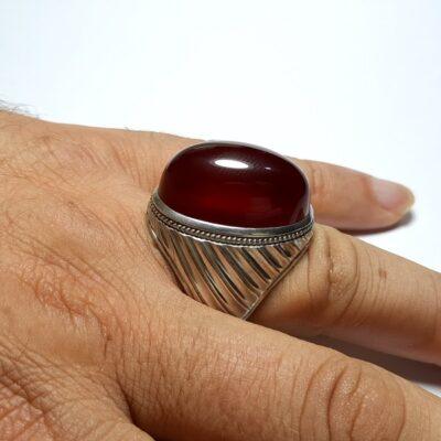 انگشتر فدیوم مردانه عقیق a435.2