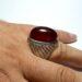 عکس ریز انگشتر فدیوم مردانه عقیق a435.2