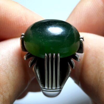 انگشتر یشم سبز مردانه a438.1