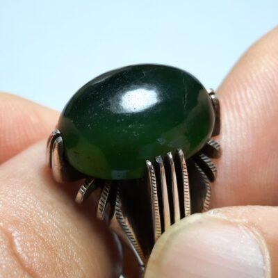 انگشتر یشم سبز مردانه a438.2