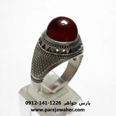 انگشتر جزع سرخ یمانی f453