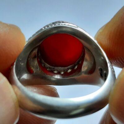 انگشتر جزع سرخ یمانی f453.2