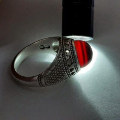 انگشتر جزع سرخ یمانی f453.3