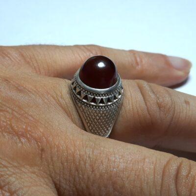 انگشتر جزع سرخ یمانی f453.4