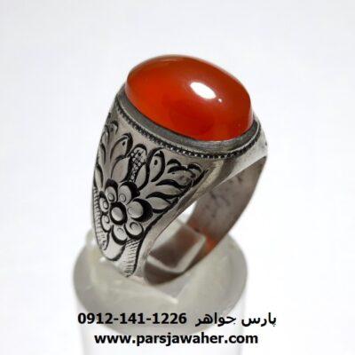 انگشتر قلمزنی عقیق یمن a439