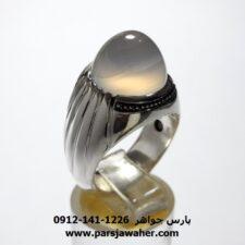 انگشتر عقیق سفید یمنی a440