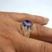 عکس ریز انگشتر موزانایت دست ساز 320.3