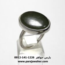 انگشتر یشم سبز یمنی a443